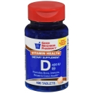GNP Vitamin D3 400 IU Supplement Chewable Tablets, Orange, 100ct