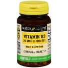 Mason Natural Vitamin D 1000 Iu Softgels 60ct