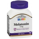 21st Century Melatonin 5mg Maximum Strength Tablet - 120ct
