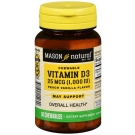 Mason Natural, Chewable Vitamin D 1000 IU, 50ct
