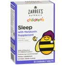Zarbee's Naturals Children's Sleep Tablets with Melatonin, Grape, 30 Ct