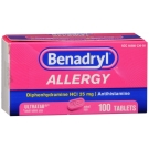 Benadryl Allergy 25 mg Ultratab 100ct