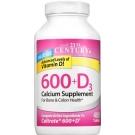21st Century 600mg+D3 Calcium Supplement Tablets 400ct