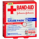 Band-aid First Aid Small Gauze Pad, 2x2 Inch 10ct