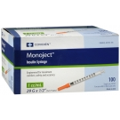 Monoject Insulin Syringe 29 Gauge, 1cc, 1/2