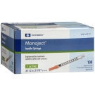 Monoject Ultra Comfort Insulin Syringe 31 Gauge, 1cc, 5/16