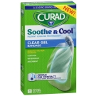 Curad Soothe & Cool Instant Cooling Technology Clear Gel Bandages, 8 ct