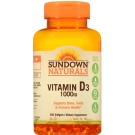 Sundown Naturals High Potency Vitamin D3 1000 IU 400 Softgels