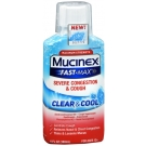 Mucinex Fast-Max Severe Congestion & Cough Clear & Cool Cough Suppressant, 6.0 oz