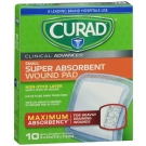Curad Clinical Advances Ultrasorb, 3 in x 3 in, 10 ct