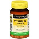 Mason Natural Vitamin K2 100mcg Plus D3 1000 IU Tablets 100ct