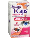 I-Caps Systane Areds 2 Chewable Eye Vitamin Mineral Supplement 60 Tablets