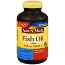 Nature Made Fish Oil 1200mg + 360mg Omega-3 Liquid Softgels - 230ct