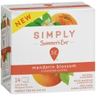 Summer's Eve Cleansing Cloths Mandarin Blossom - 14ct