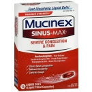 Mucinex Sinus-Max Severe Congestion and Pain Liquid Gels - 16 ct