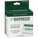 Biofreeze Cold Therapy Pain Relief On-the-Go Singles Gel Packets - 16 ct