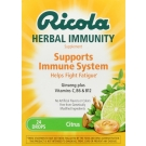 Ricola Herbal Immunity Supplement Drops Citrus - 24 ct