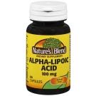 Nature's Blend Alpha Lipoic Acid, 100 mg, Capsules, 60 ct