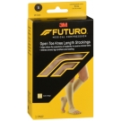 Futuro Therapeutic Knee High for Men & Women, Open Toe, Beige, Firm Compression, Size Small