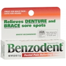 Benzodent Denture Pain Relieving Cream .25oz