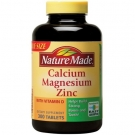 Nature Made Calcium, Magnesium & Zinc, Tablets 300ct