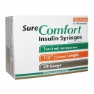 SureComfort Insulin Syringe 29 Gauge, 1cc, 1/2