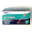 TRUE plus Insulin Syringe 28 Gauge, 1cc, 1/2