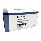 Monoject  U-100 Insulin Syr 28 Gauge 1cc 1/2 inch Needle 100/Box