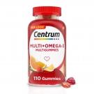 Centrum Multigummies Multivitamin for Adults Omega-3 Gummies, Assorted Fruit, 110 ct