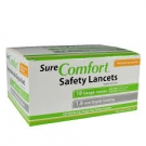 SureComfort Safety Lancets 18G, 1.8mm- 100ct