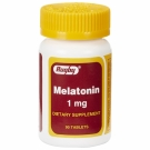 Rugby Melatonin Tablets, 1mg, 90ct