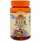 Sundown Naturals Kids Disney Princess Complete Multivitamin Gummies, Grape Orange and Cherry, 60 Ct