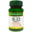 Nature's Bounty Vitamin B-12 5000mcg, 40 Quick Dissolve Tablets