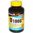 Mason Natural Vitamin D 1000 Iu Softgels 120ct