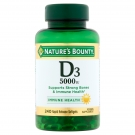 Nature's Bounty Maximum Strength Vitamin D3 5000 IU 240 Softgels