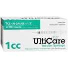 UltiGuard U-100 Insulin Syringes 30 Gauge, 1cc, 1/2