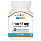 21st Century Iron 65mg Ferrous Sulfate 325mg Tablets, 120ct
