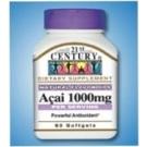 21st Century Dietary Supplement Acai 1000mg per serving Softgels 60