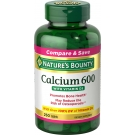 Natures Bounty High Potency Calcium 600mg Plus Vitamin D Tablets 250ct