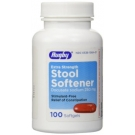 Rugby Stool Softener Softgels, 250mg- 100ct