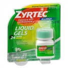 Zyrtec 24-Hour Allergy Relief, 10 mg, Liquid Gels- 25ct