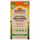 Sundown Naturals Super Snooze Melatonin, 90 Capsules