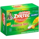Children's Zyrtec Allergy 24 Hour 10mg Dissolve Tabs Citrus - 24ct