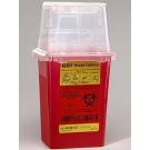 BD Sharps Red Collection Container Dual Access - 1.4qt