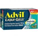 Advil Liqui-gel Minis Pain Reliever & Fever Reducer - 80ct