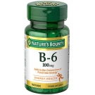 Natures Bounty Vitamin B-6 100mg Tablets, 100ct