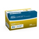 AIMSCO Maxi-Comfort II Pen Needles, 31 Gauge, 3/16