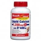 Mason Natural Liquid Calcium 1200 with Vitamin D Softgels 60ct