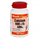 Mason Natural Super Calcium 600 plus D3 400 Tablets 100ct