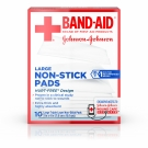 Band-Aid First Aid Pads Large Non-stick Pads, 10 Count